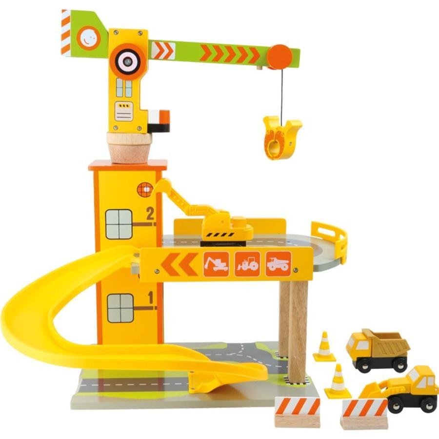 LEGLER Garáže pro autíčka - stavební jeřáb