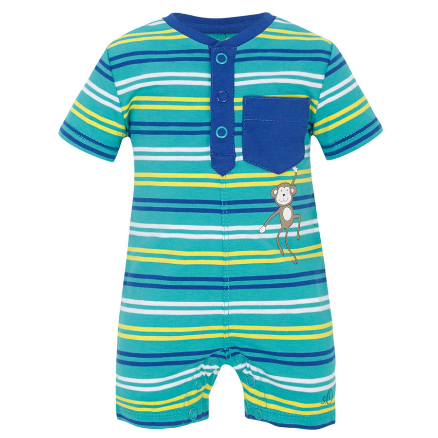 s.OLIVER Boys Baby Overal blue-green stripes