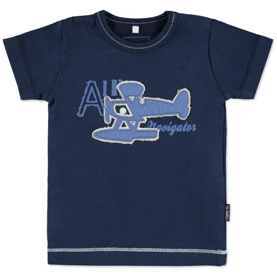 NAME IT Boys Baby T-Shirt HUGO jurkje blauw