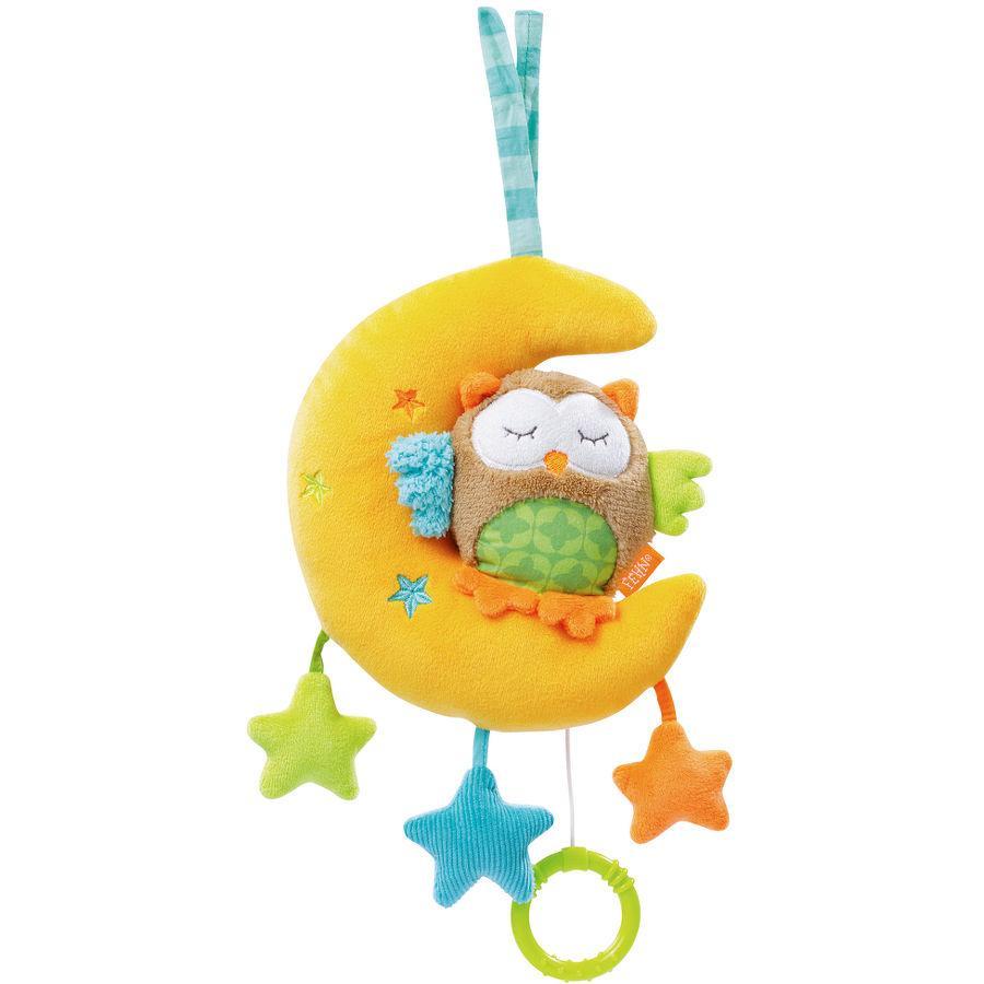 FEHN Závěsná hrací hračka, sova v měsíci - Sleeping Forest