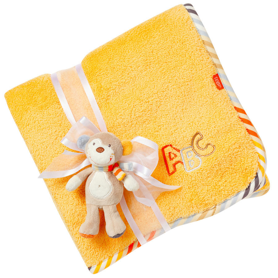FEHN Monkey Donkey Kuscheldecke Koala orange