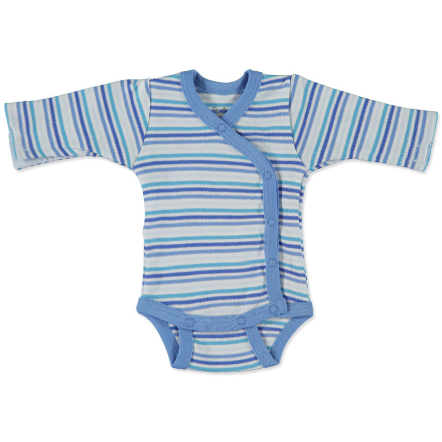 FIXONI Boys Preemie Wrap Bodysuit white/blue