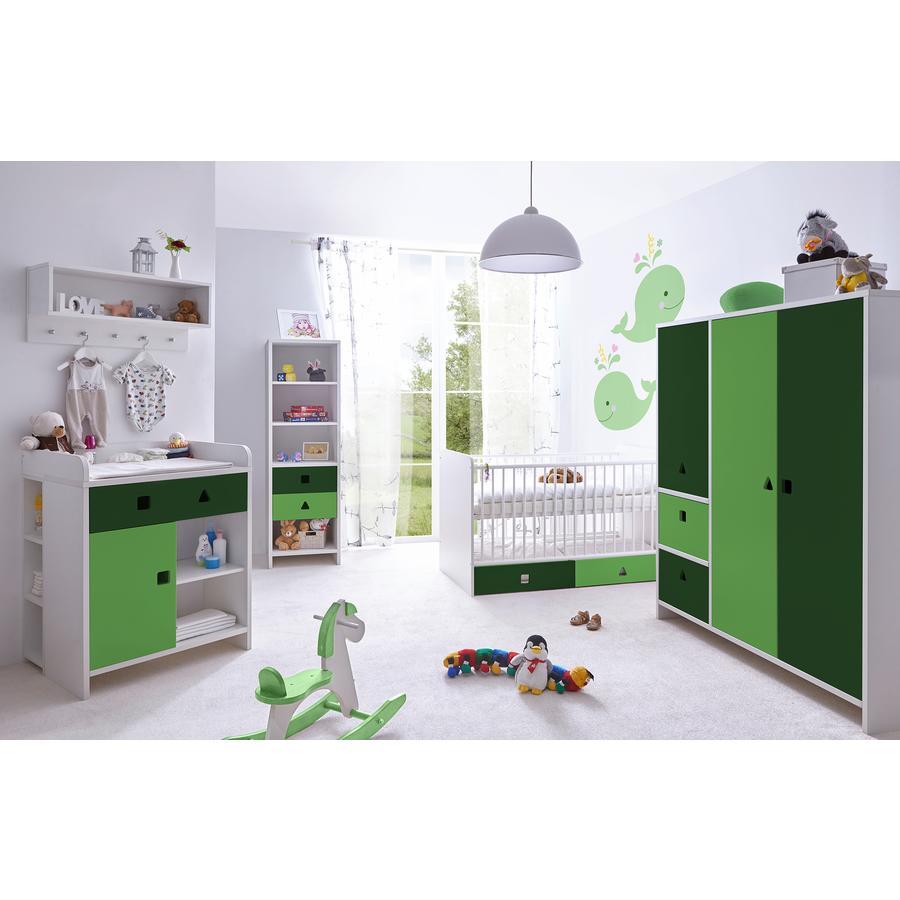 TiCAA Babyzimmer Cubo grün, 5-teilig