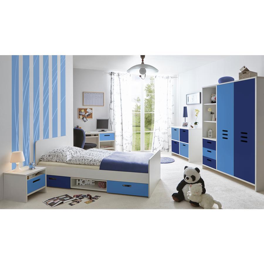 TiCAA Kinder- und Jugendzimmer Clou blau, 5-teilig