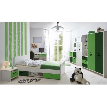 TiCAA Kinder- und Jugendzimmer Clou grün, 5-teilig