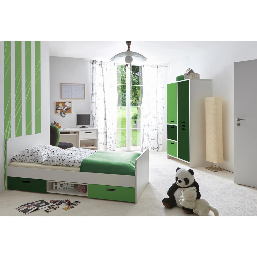 TiCAA Kinder- und Jugendzimmer Clou grün, 3-teilig