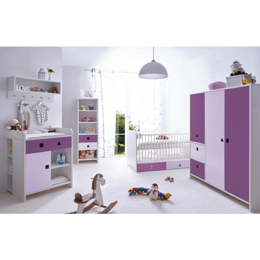 TiCAA Babyzimmer Cubo lila, 5-teilig