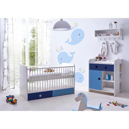 TiCAA Babyzimmer Cubo blau, 3-teilig
