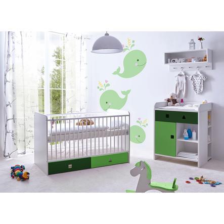 TiCAA Babyzimmer Cubo grün, 3-teilig