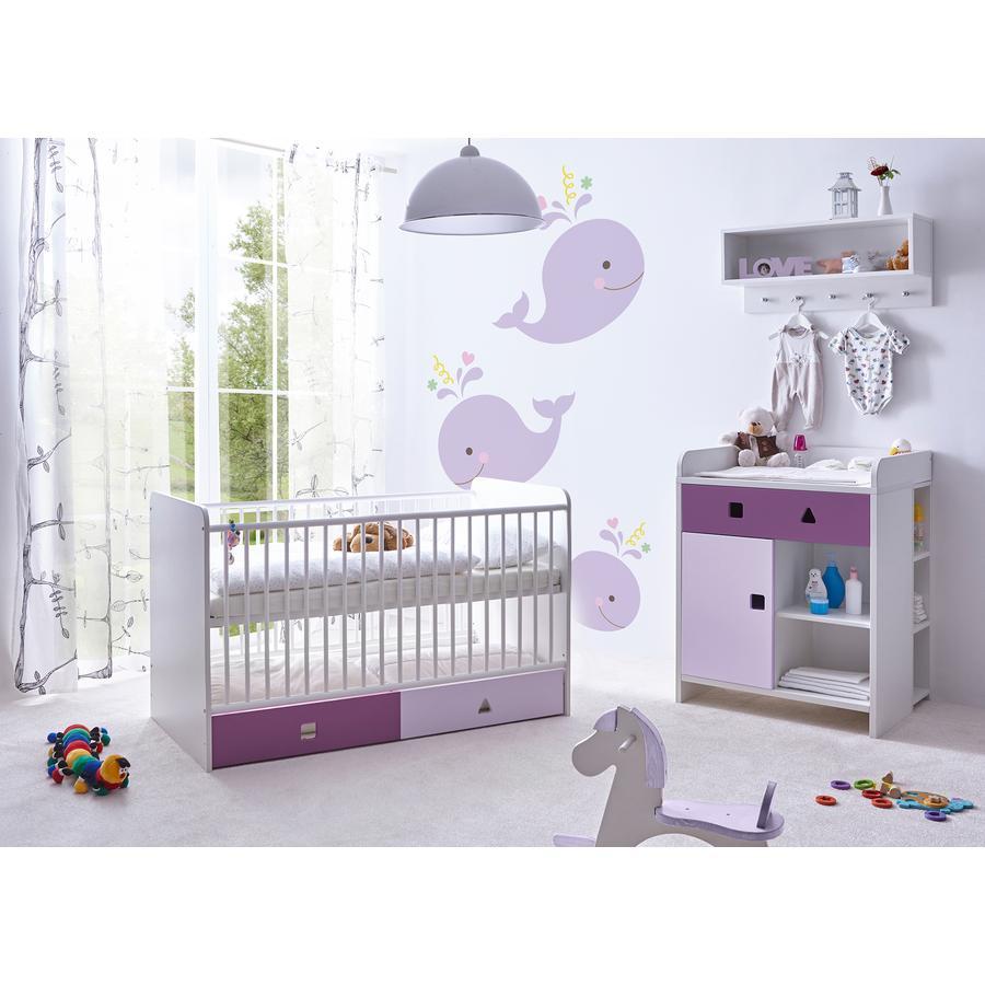TiCAA Babyzimmer Cubo lila, 3-teilig