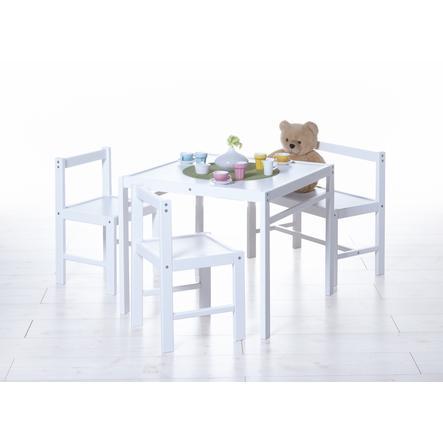 TiCAA Ensemble meubles enfants, 4 pièces, blanc