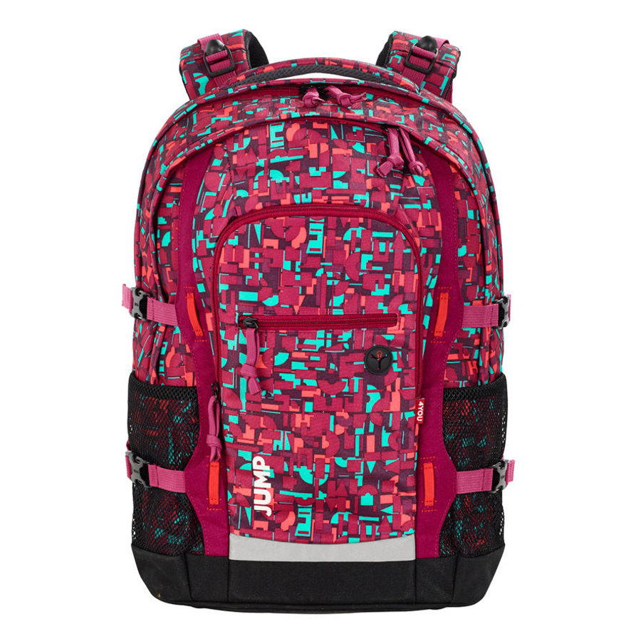 4YOU BTS Schulrucksack Jump - 331-49 Geometric Red