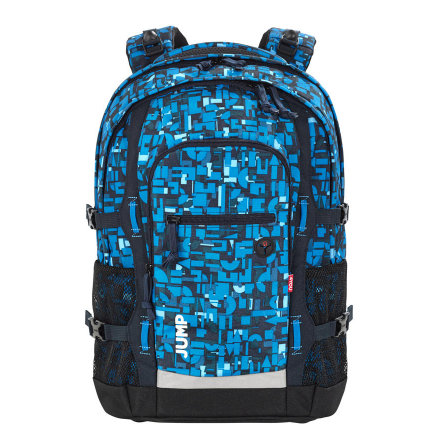 4YOU BTS Zaino per la scuola Jump - 312-49 Geometric Blue