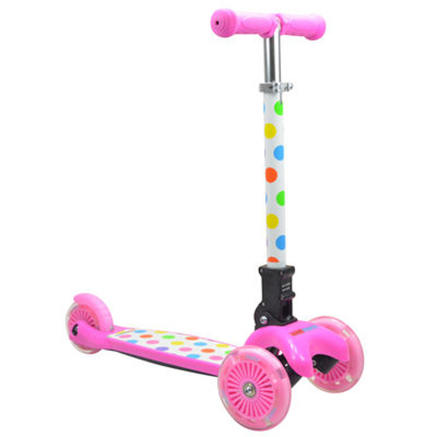 kiddimoto® Design Scooter u-zoom - puntíky pestrý