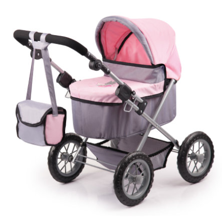 bayer Design Puppenwagen Trendy grau/rosa 1300800