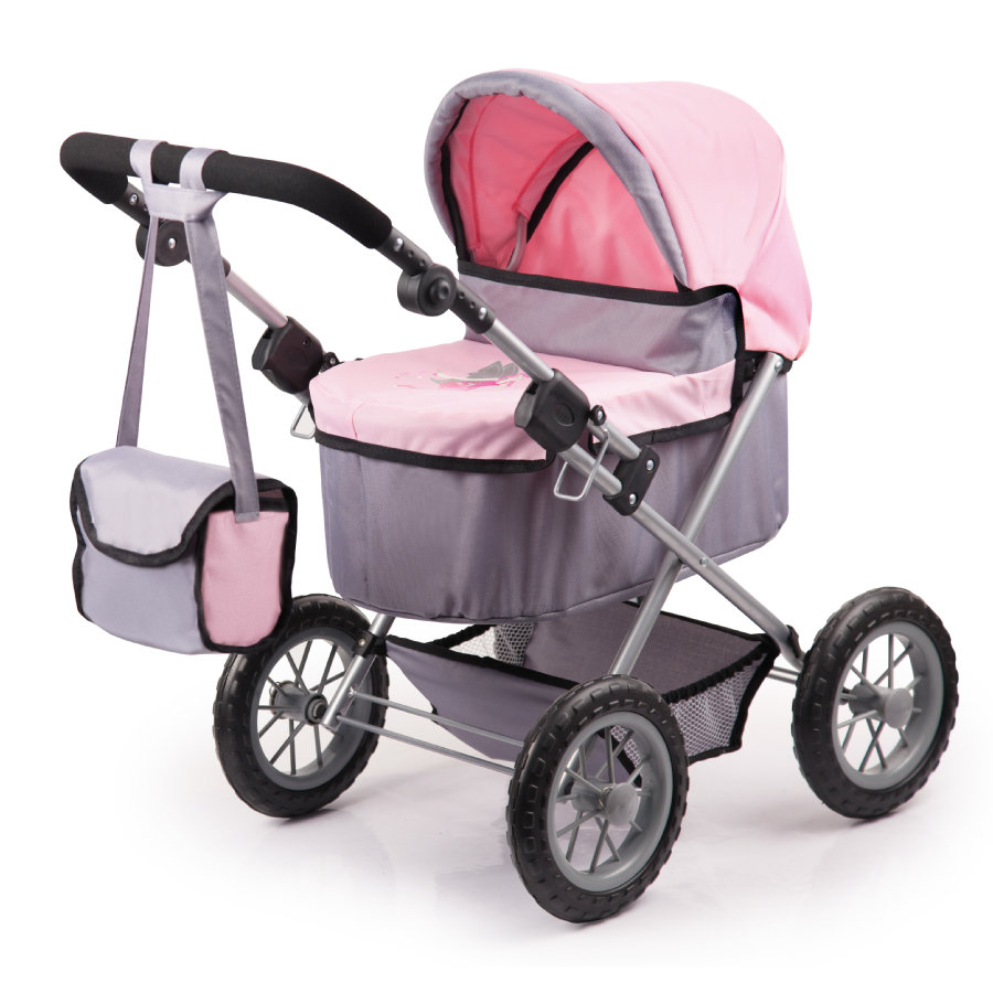 BAYER DESIGN Wózek dla lalek Trendy, kolor szaro-różowy 1300800