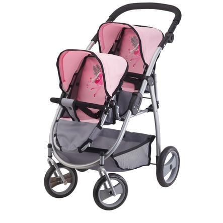 BAYER DESIGN Duowagen roze/grijs 2650800