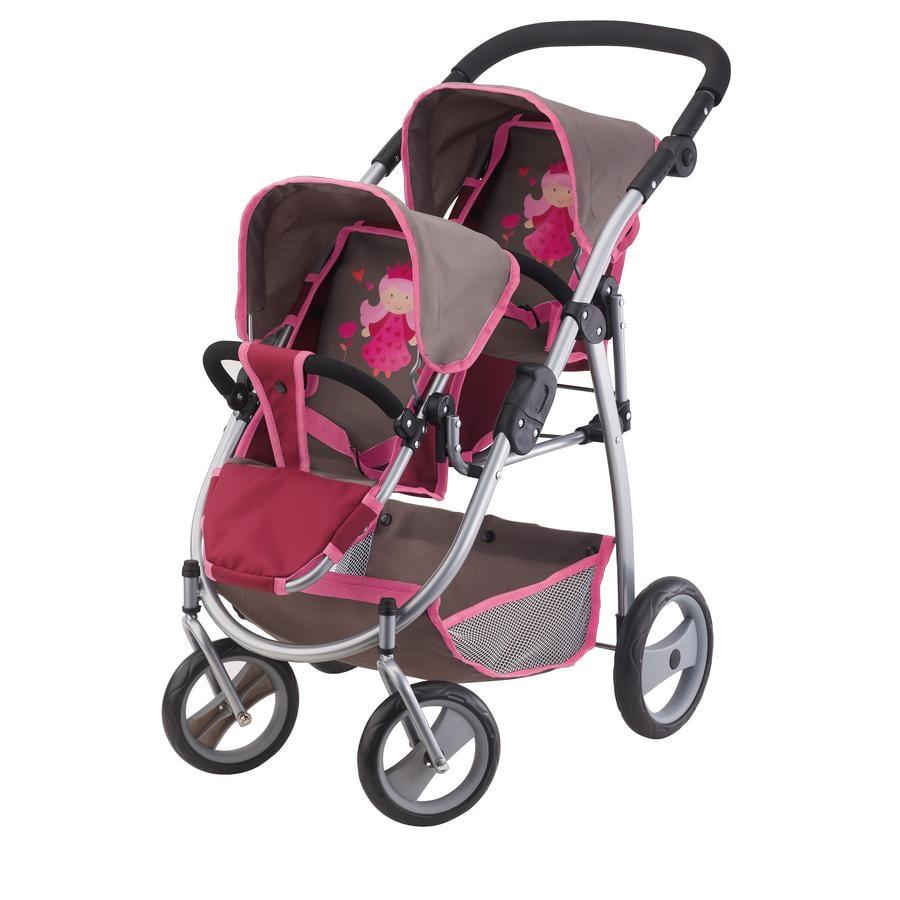 Bayer design zwillingswagen bordeaux grau 26578aa baby for Bordeaux design