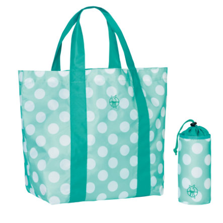 LÄSSIG Sac de plage Beach Shopper Splash & Fun Dots Aqua