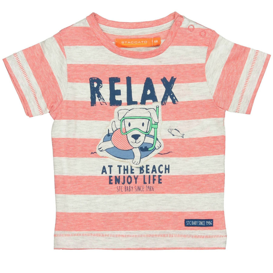STACCATO Boys Baby T-Shirt bright red Streifen