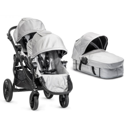 Baby Jogger Buggy City Select 4 wheeler complete set silver