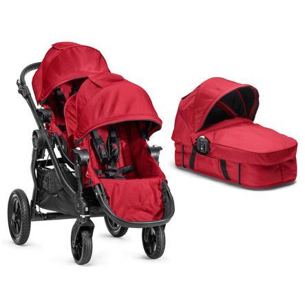 baby jogger Passeggino duo city select® 4 ruote Set completo di navicella rosso