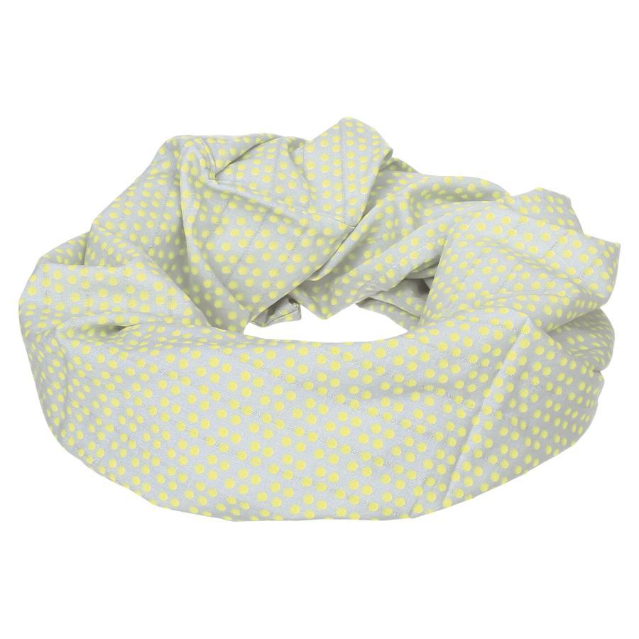 LÄSSIG Multifunkční šátek Dottie šedě-žlutý