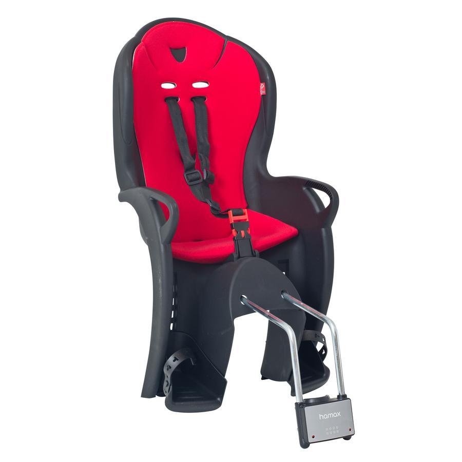 hamax Siège vélo enfant Kiss, fixation, noir/rouge