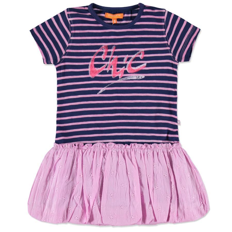 STACCATO Girls Mini Kleid jeansblue Streifen