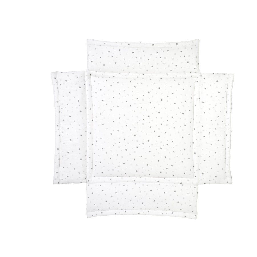 Schardt Polstrování do ohrádky hvězdičky šedé 100 x 100 cm