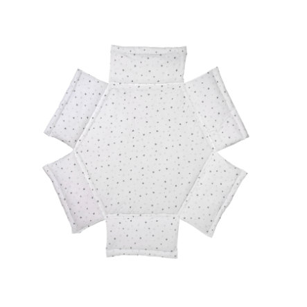 Schardt Acolchado para parque infantil hexagonal estrellas gris
