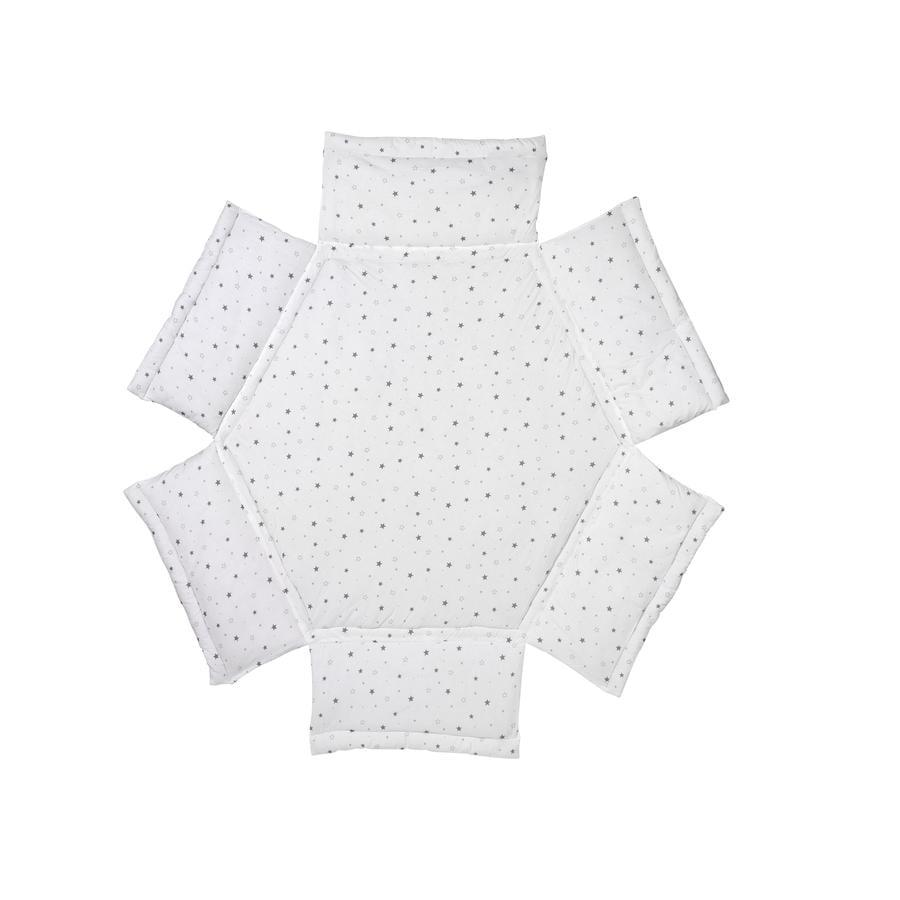 Schardt Tour de parc bébé hexagonal étoiles, gris 122x106 cm