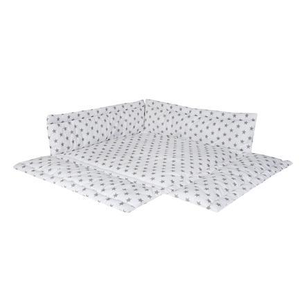 Schardt Polstrování do ohrádky big Stars šedé 100 x 100 cm