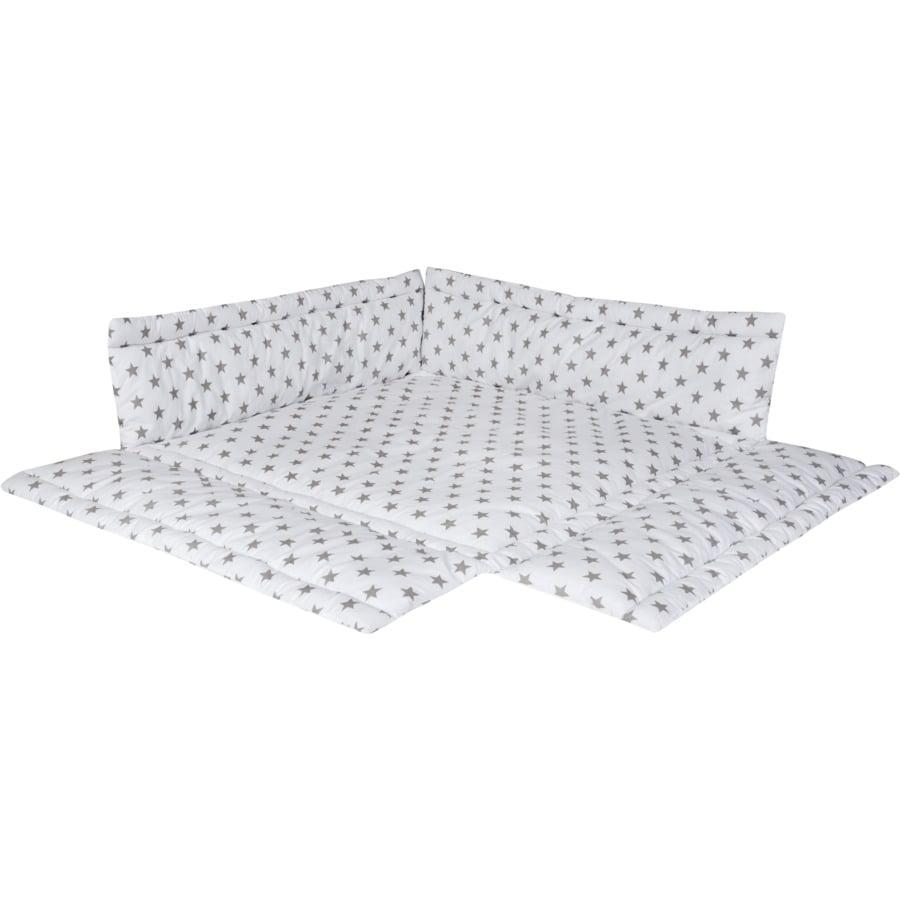 Schardt Spjälskydd lekhage, grå 100 x 100 cm