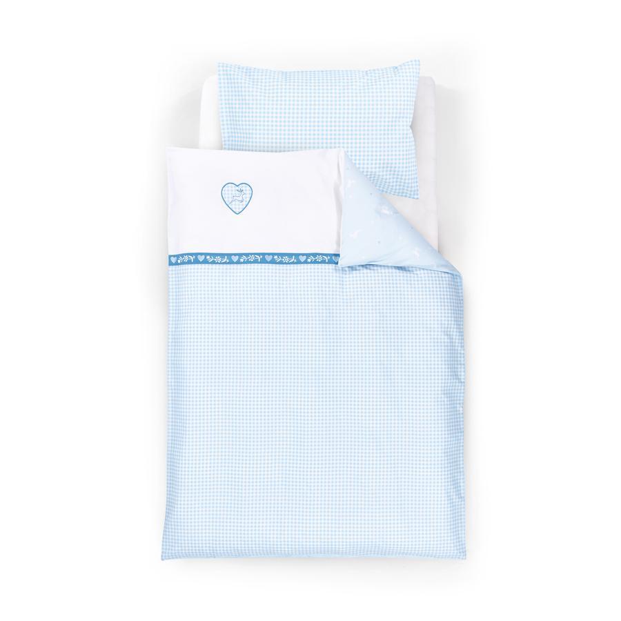 Träumeland Bettwäsche 2tlg. Herzilein blau 80x80cm