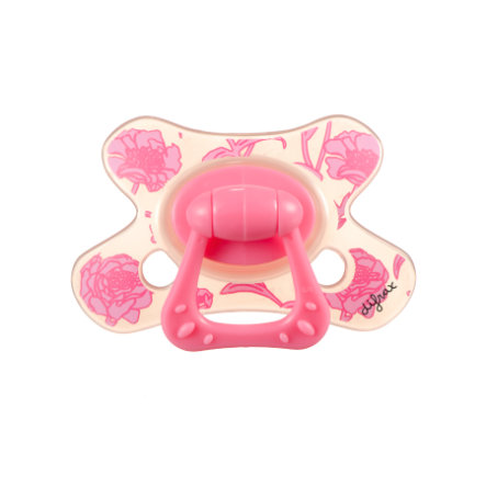 DIFRAX Sucette Natural Rose, silicone, 6 M+