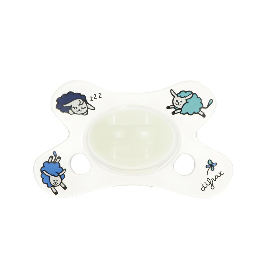 DIFRAX Sucette Dental Sheepy Nina, silicone, blanc, 0-6 M