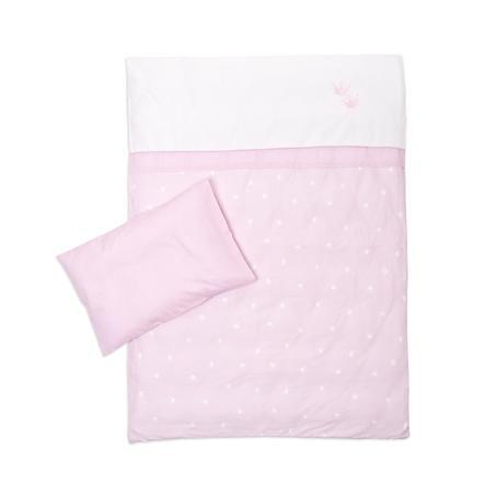 Träumeland Ropa de cama 2 uds. corona rosa 80x80cm