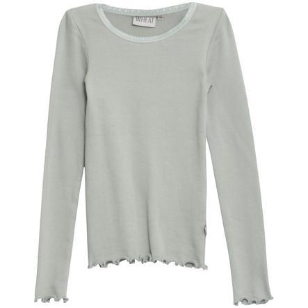 WHEAT Rib overhemd met lange mouwen Lace LS LS slategrey