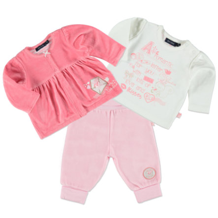 BLUE SEVEN Girls 3er Set lachs