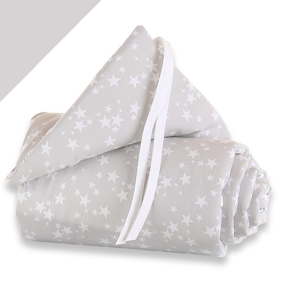 BABYBAY Protector de cuna Midi/Mini Estrellas blancas