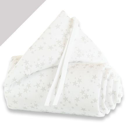 babybay Nestchen Midi / Mini Sterne perlgrau
