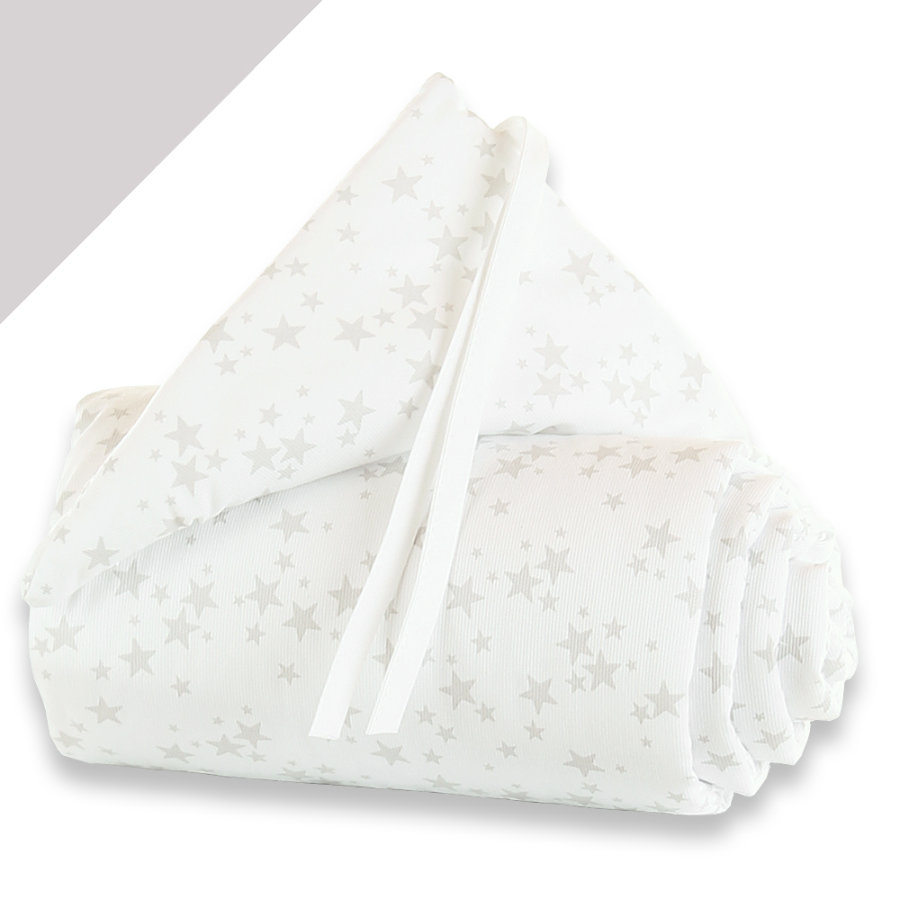 babybay Mantinel Midi / Mini hvězdy perlově šedé