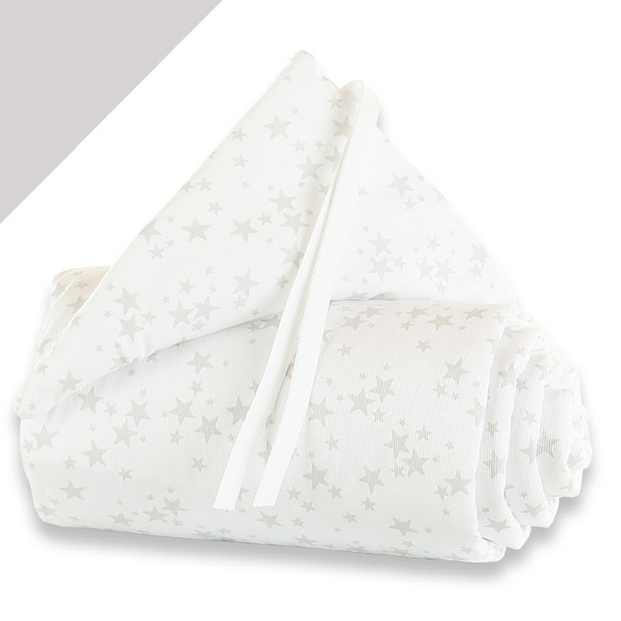 babybay® Nestchen Piqué Midi/Mini Sterne perlgrau 157 x 25 cm