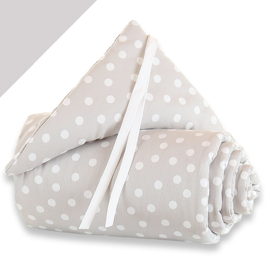babybay Tour de lit Midi / Mini Pois, blanc