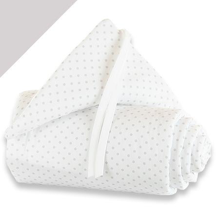 babybay® Nestchen Piqué Midi/Mini Punkte perlgrau 157 x 25 cm