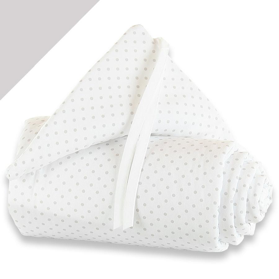 TOBI BABYBAY Paracolpi per lettino co-sleeping Midi / Mini pois grigio perla