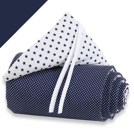 babybay Spjälskydd Maxi - blå/vita stjärnor