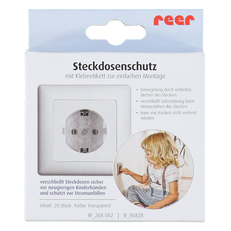 REER Adhesive Electrical Outlet Cover Clear - 20 Pieces