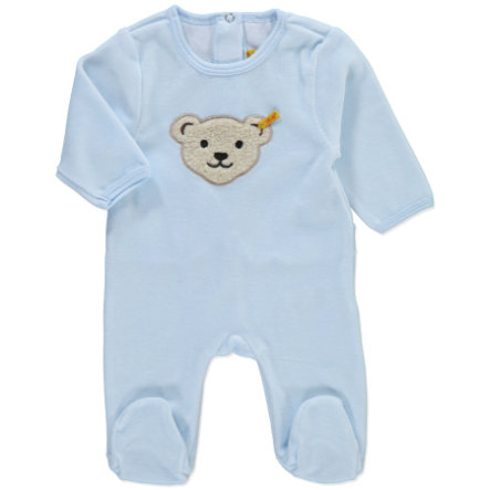 STEIFF Boys Baby Velour Rompers baby blue